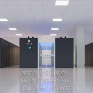 厦门一体化机房效果图设计_某民航飞行控制大厅机房