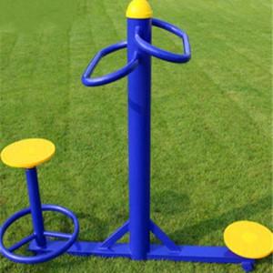 小区体育设施坐立式扭腰器型号_图片